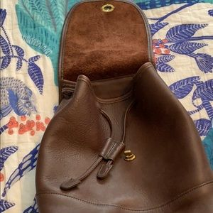 Coach Bags - Coach vintage brown leather backpack
